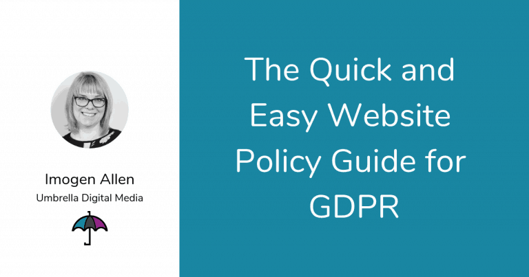 The Quick and Easy Website Policy Guide for GDPR