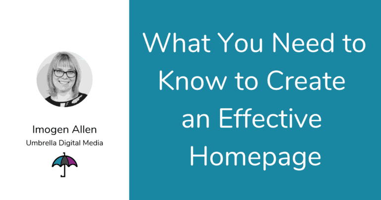 What You Need to Know to Create an Effective Homepage