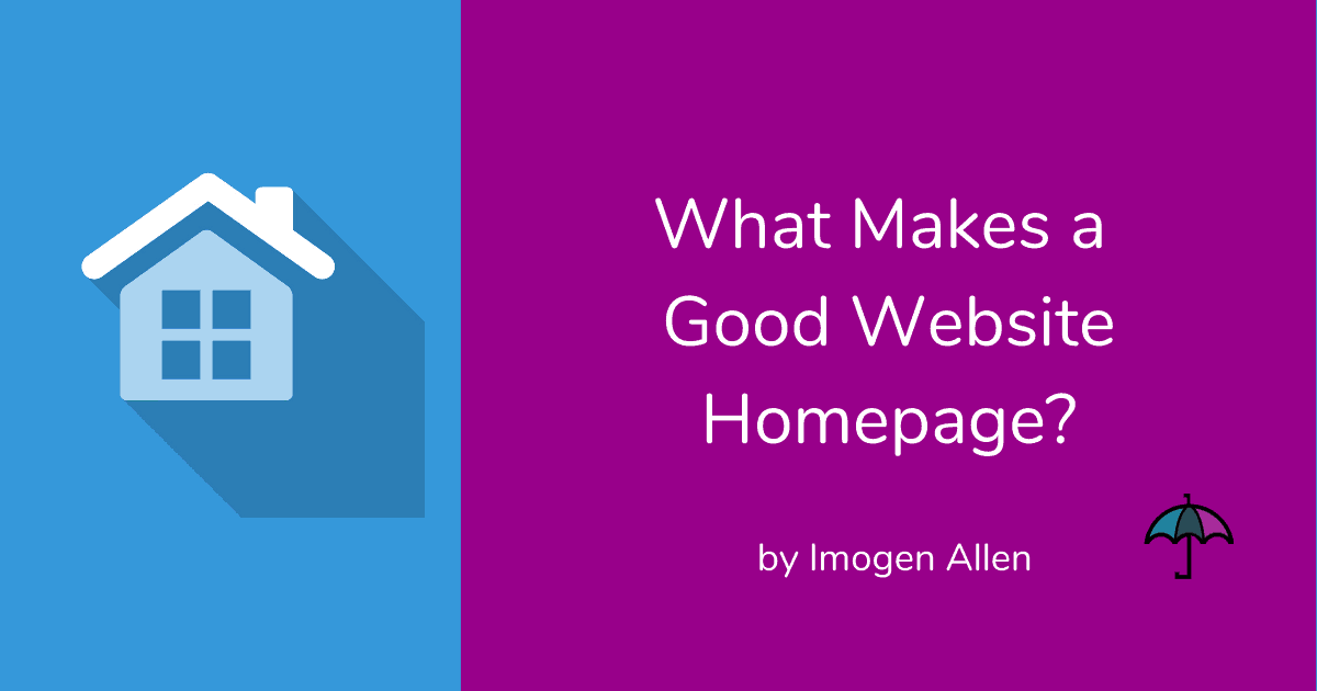 What Makes a Good Homepage